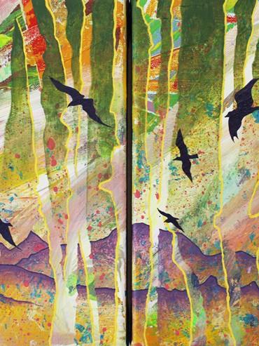 Birds Silhouette (Diptych)