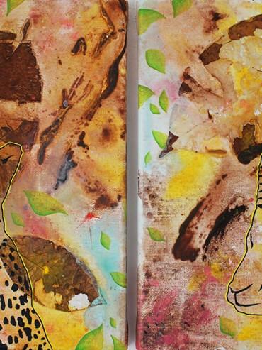 Cheetah & Gazelle (Diptych)