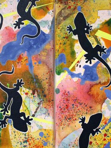 Geckos (Diptych)
